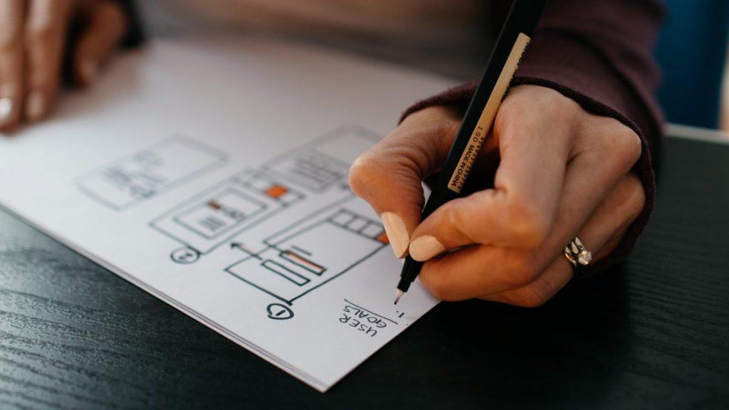 desenhar website profissional