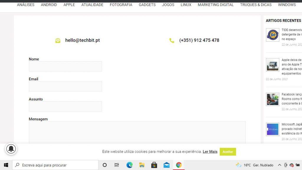 pagina contactos website