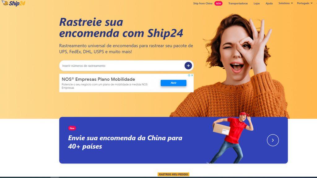 ship24 rastrear encomendas