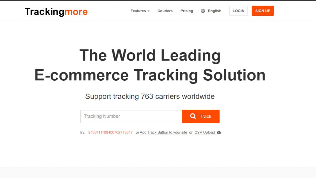 trackingmore rastrear encomendas