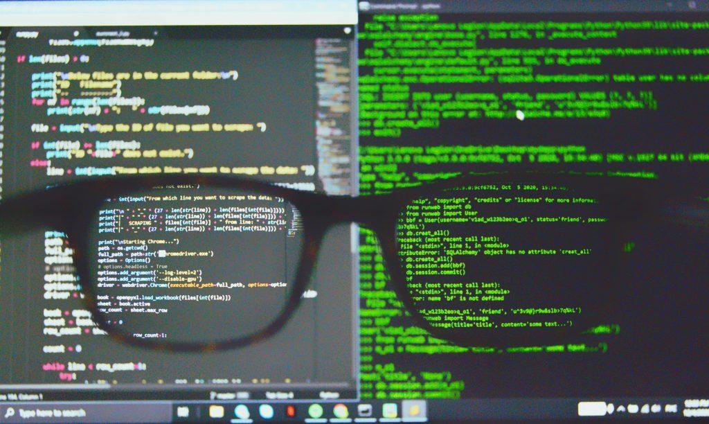 ransomware virus hacker glasses pc