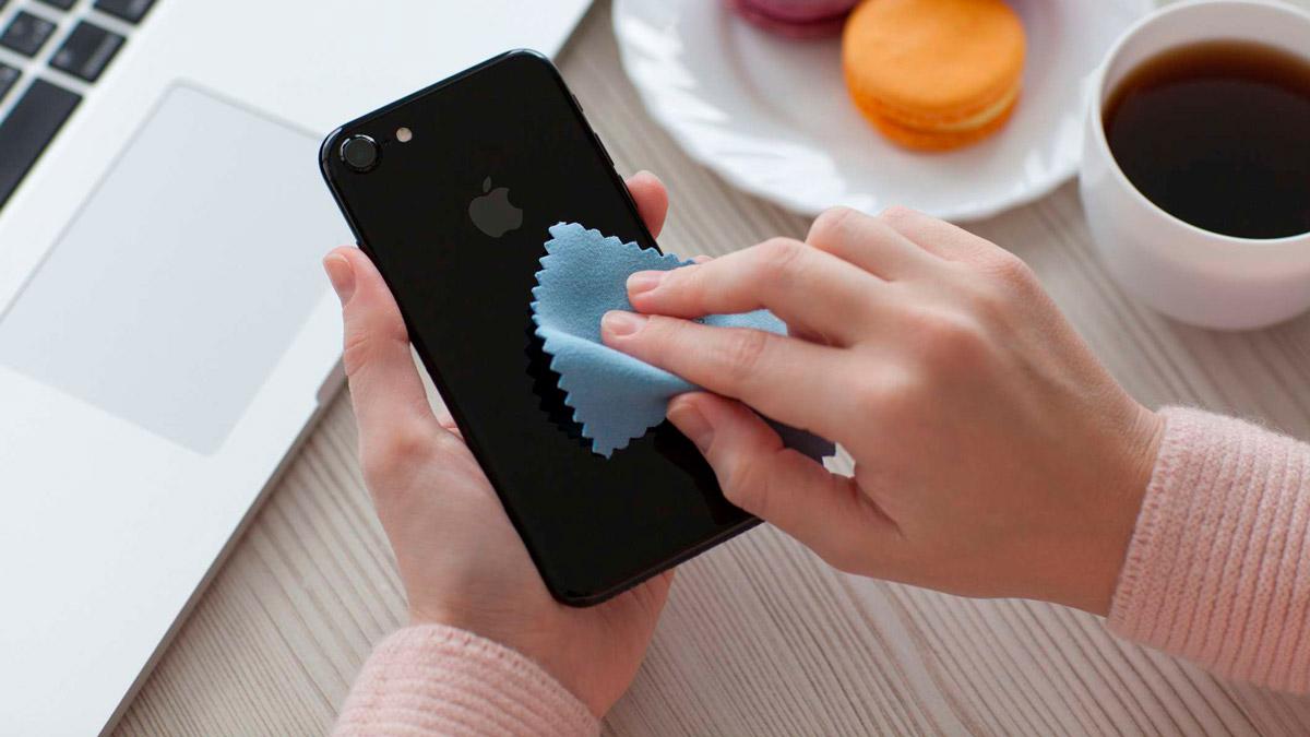 limpar iphone