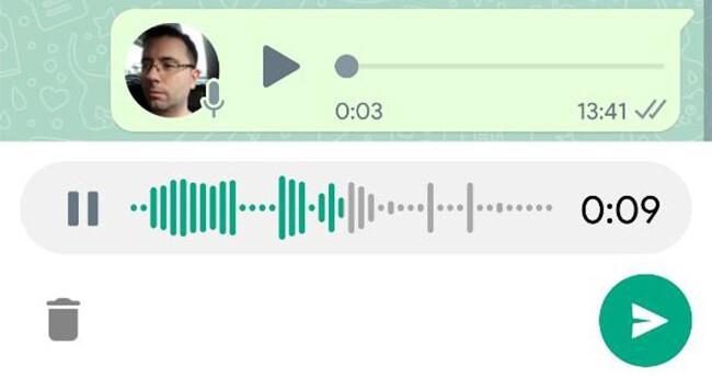 WhatsApp Gravacoes de voz