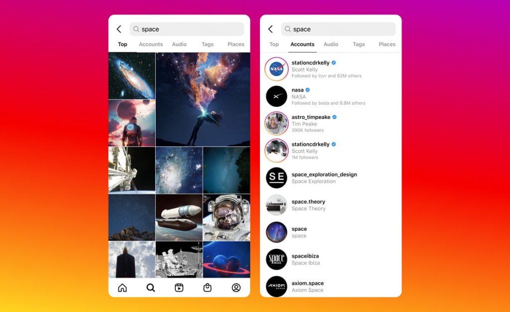 Instagram pesquisa