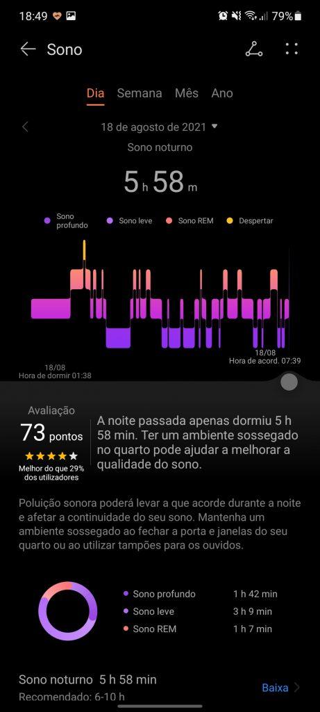 Huawei Band 6 sono