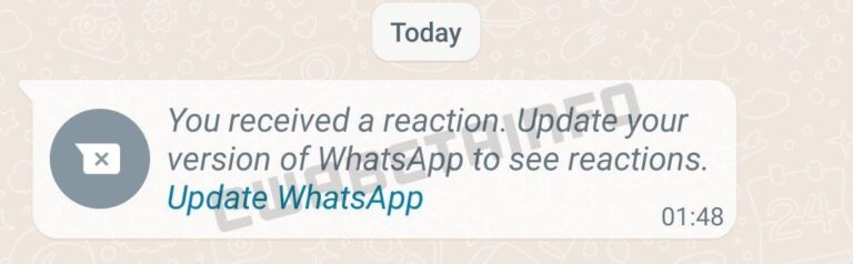 whatsapp mensagens reacoes