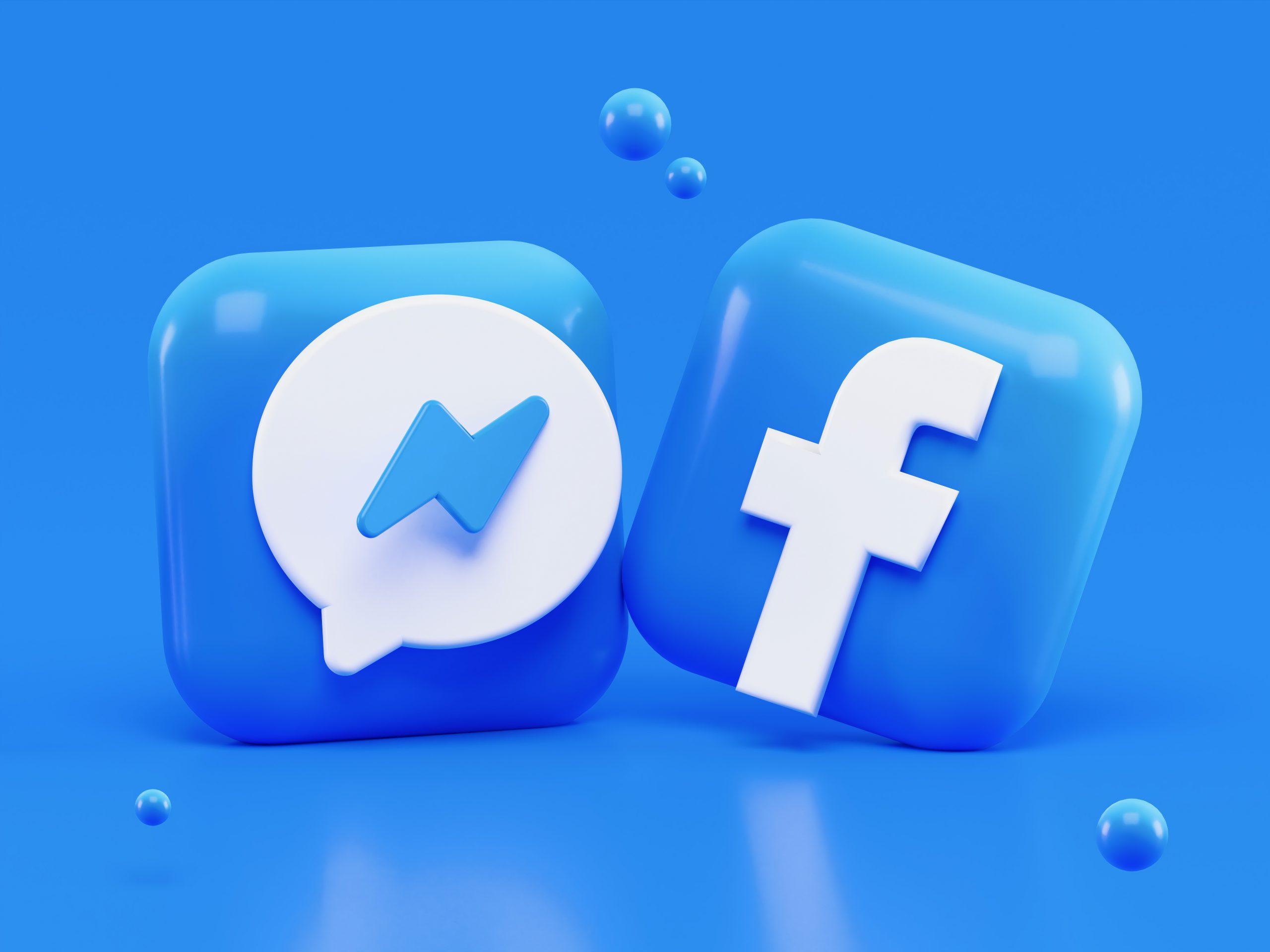 facebook social media logo messenger