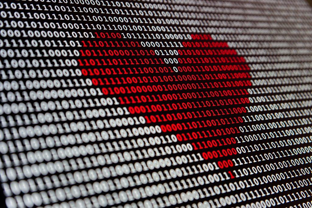 Love tech computador amor dating coracao codigo