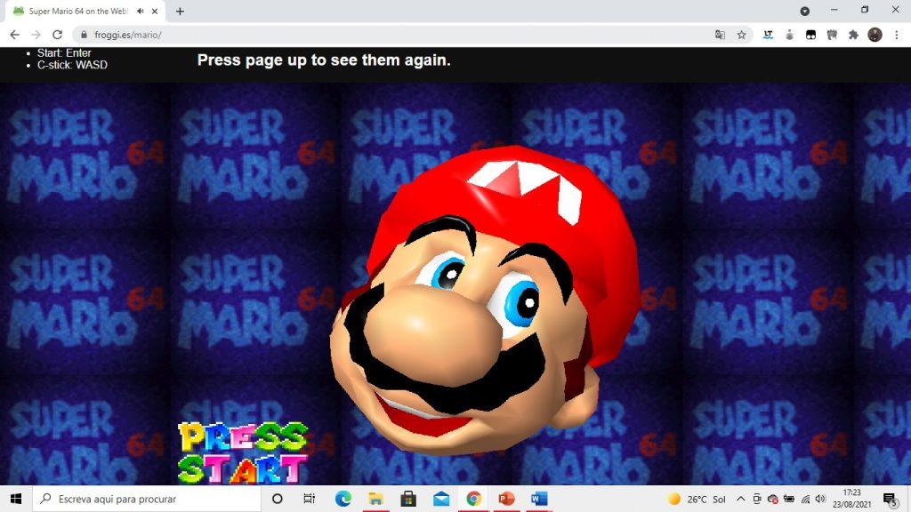 super mario 64 navegador browser