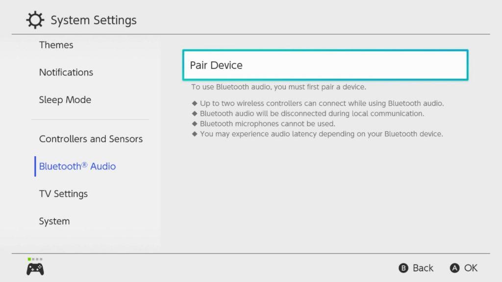 Nintendo Switch Audio Bluetooth