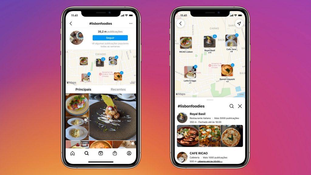 Instagram pesquisa no mapa